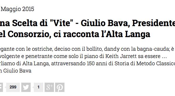 L'Alta Langa è… una scelta di vite! Intervista al presidente Giulio Bava su WineCult.it