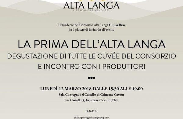 """La """"prima"""" dell'Alta Langa: il 12 marzo a Grinzane Cavour"""